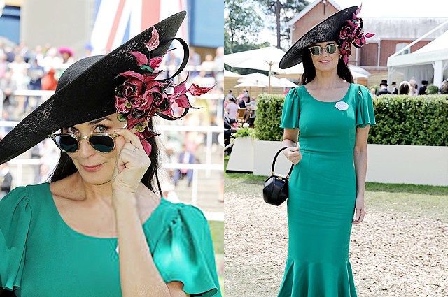 Деми Мур зелена рокля