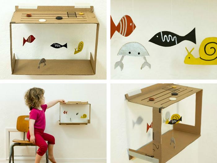 детски аквариум от картон