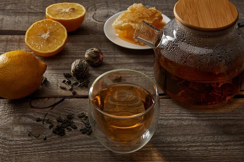 чай с мед и лимон