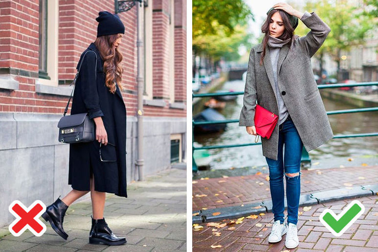 палто за ниска жена