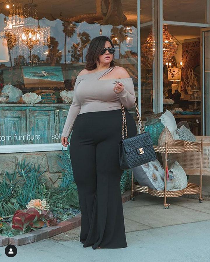 елегантна дебела жена
