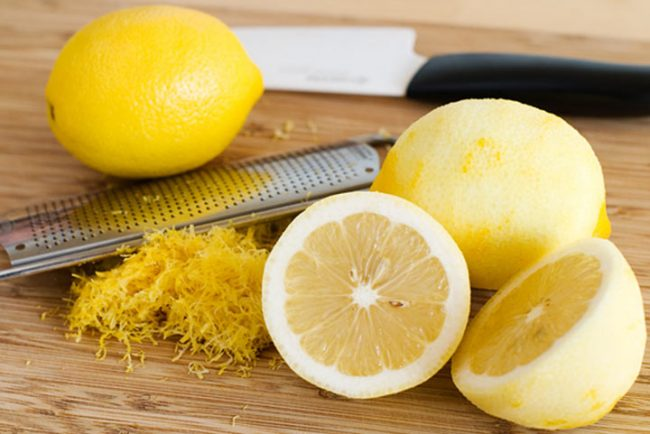 настърган лимон