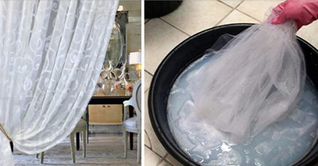 пране на тюл