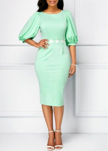 светлозелена рокля