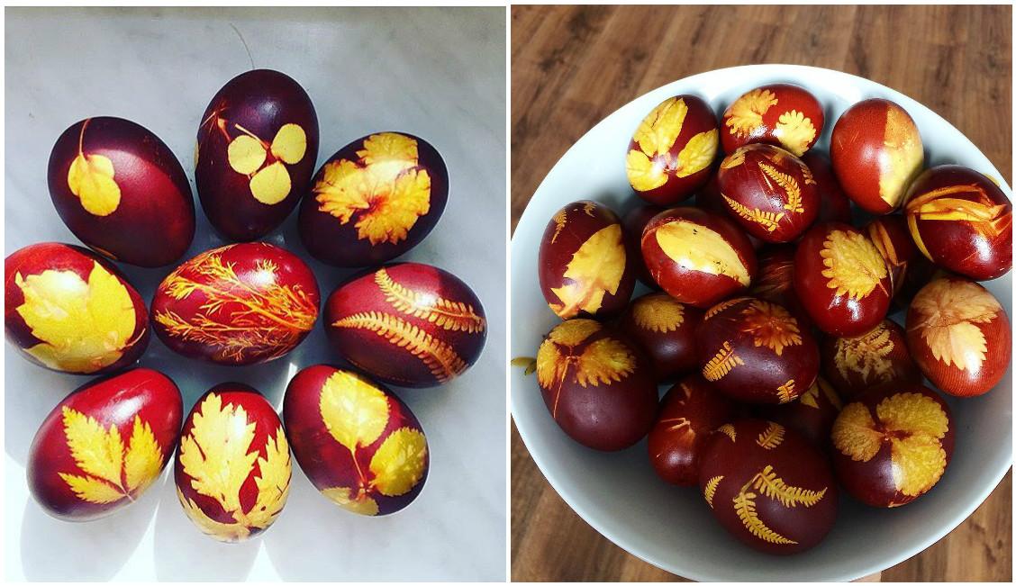 яйца с цветчета