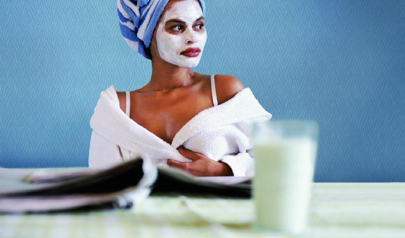 маска с кисело мляко