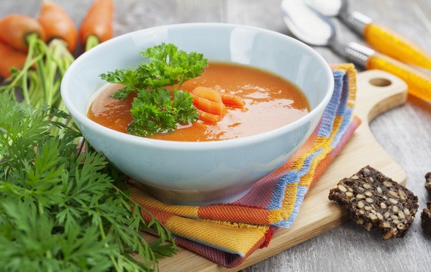 детокс-супа с моркови и джинджифил