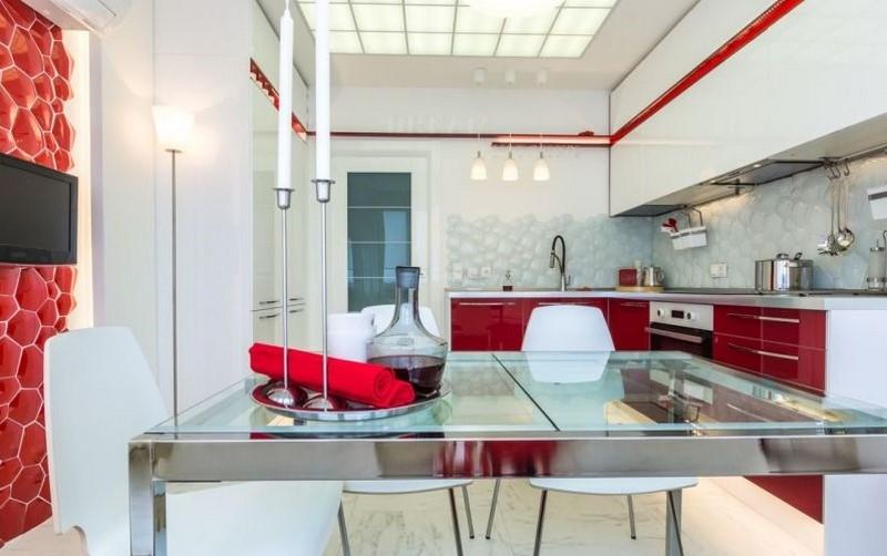 Полилеи за кухня в стила на авангарда