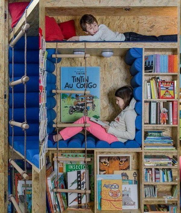 кът за четене в детската