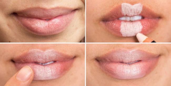 светъл молив за устни