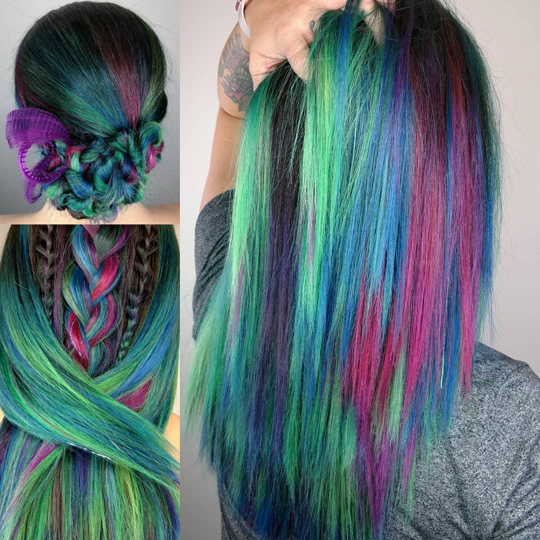 кичури в ярки цветове