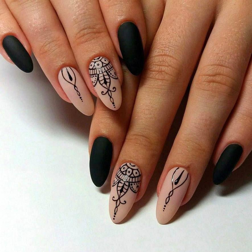 ориенталски рисунки по ноктите