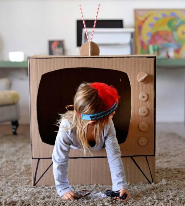 телевизор от кашон