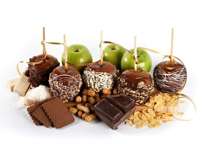 ябълки в шоколад