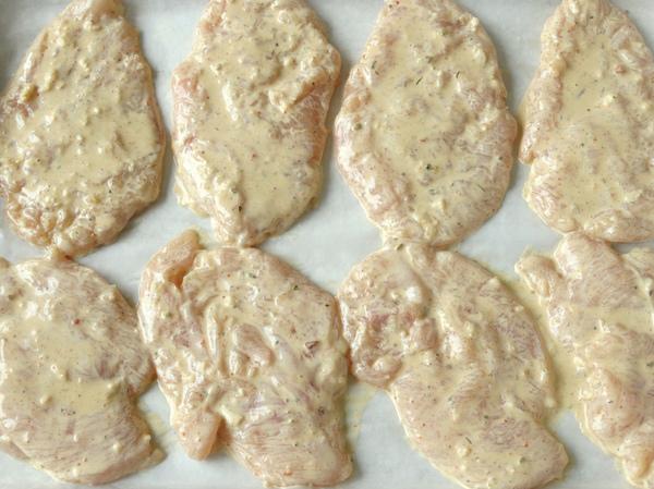 марина за пилешки пържоли