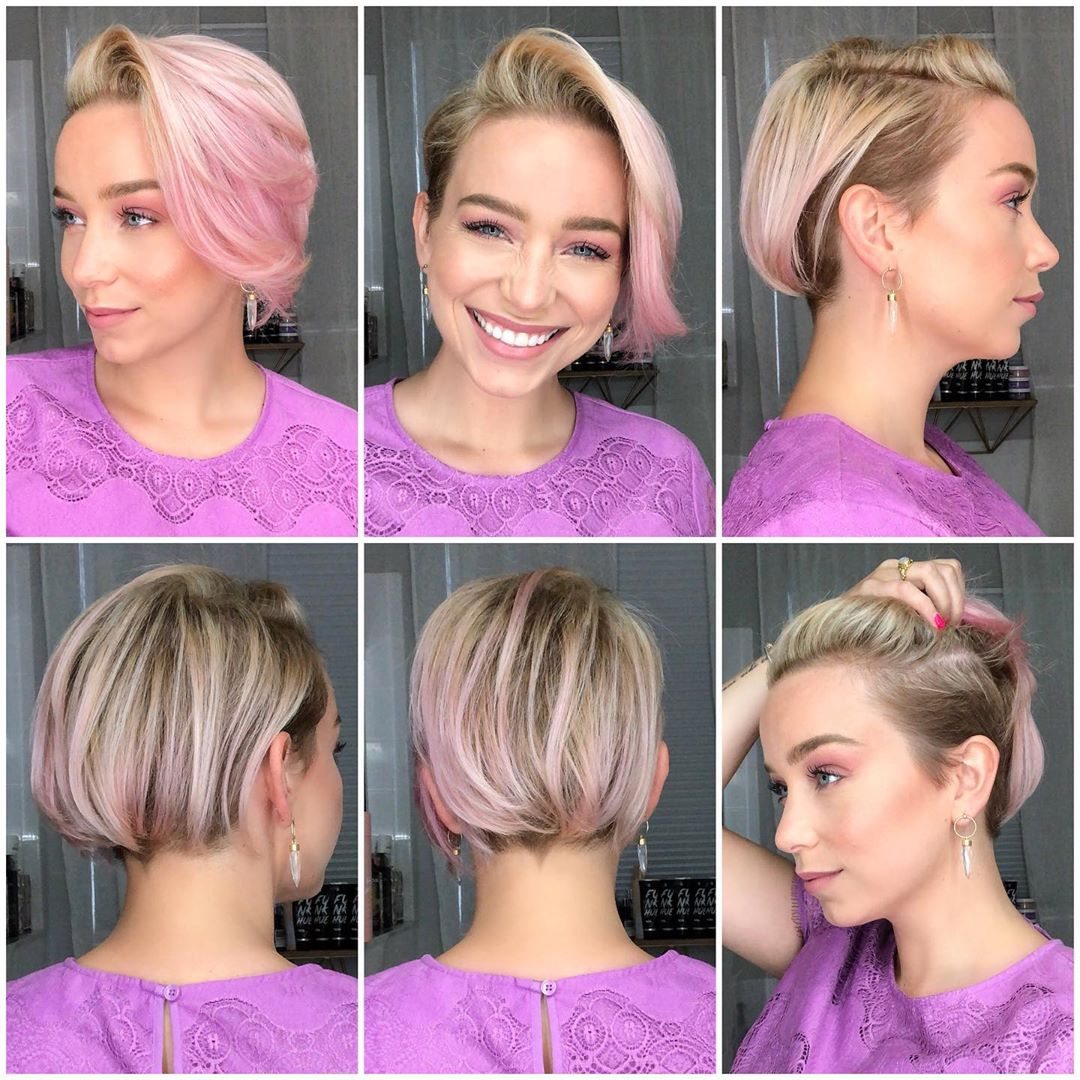 коса розови кичури