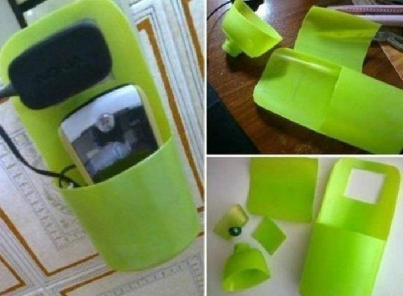 калъфче за телефон от пластмасови опаковки