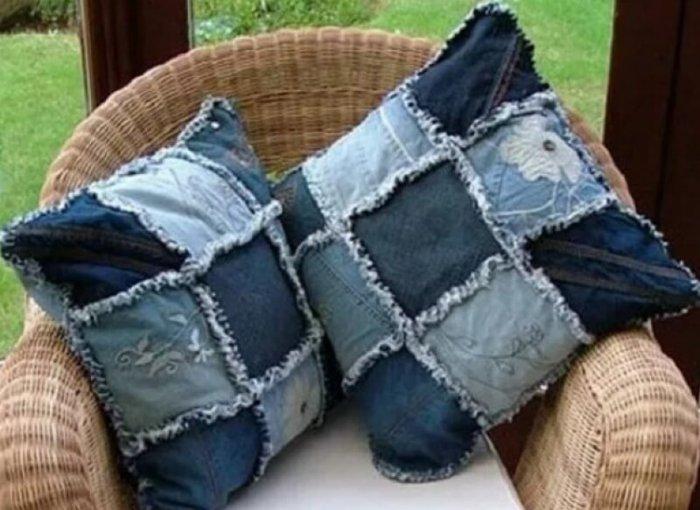 дънкови възглавници