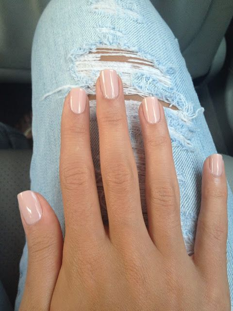 The Perfect Nude Nails: Essie Topless and Barefoot followed by a coat of Essie Sugar Daddy .: