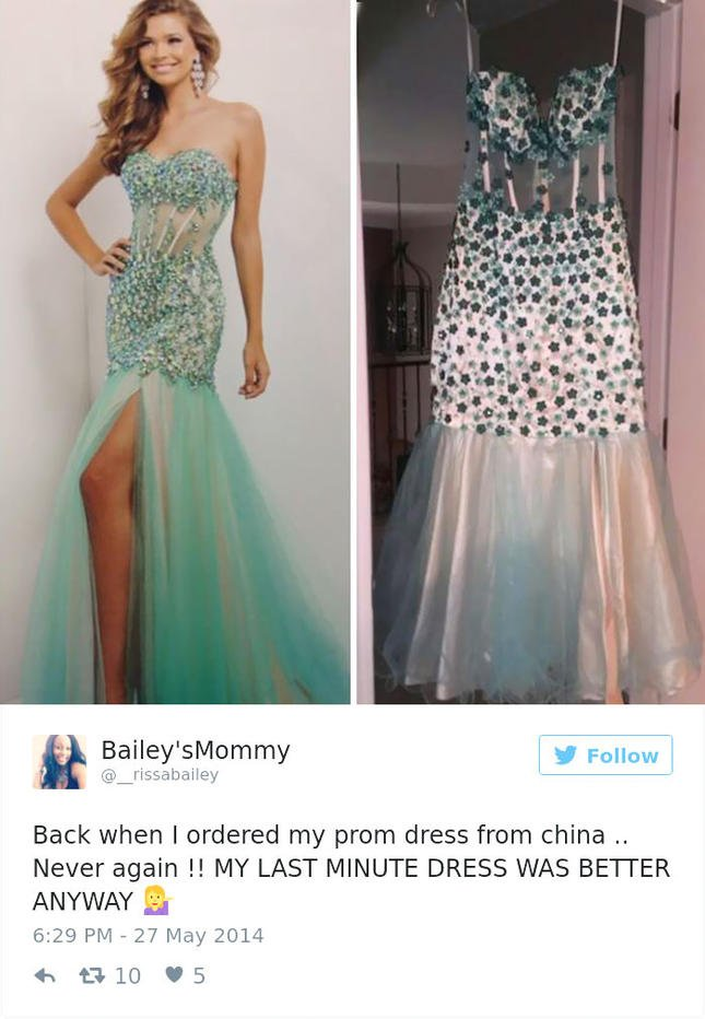 4864ecd1353 Ето тези дами останаха тотално разочаровани, защото официалните рокли,  които са си поръчали онлайн, не са това, което са очаквали.