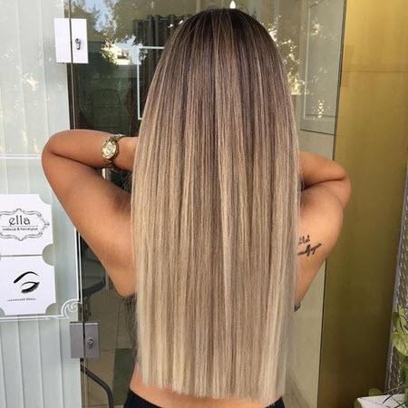 дълга коса прав срез
