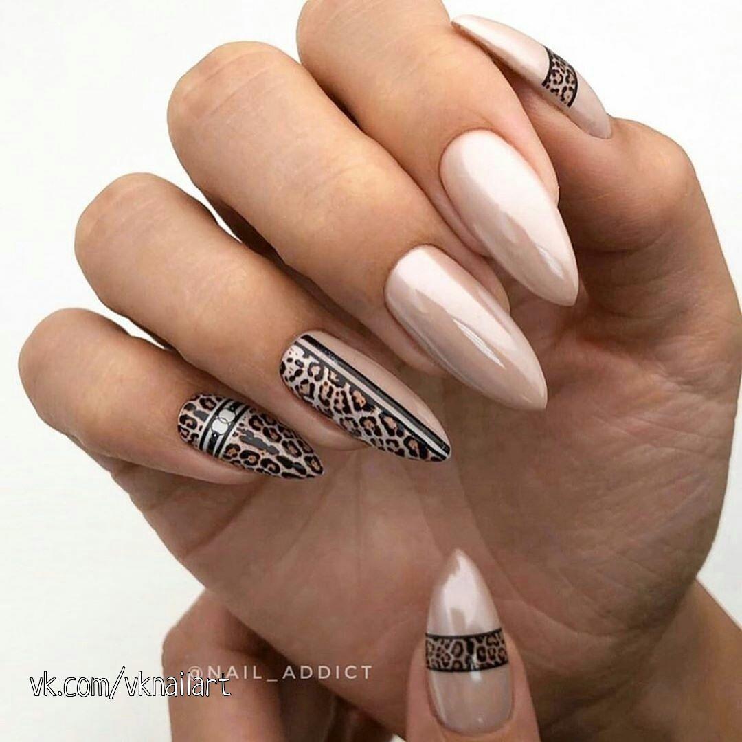 изкусен леопардов маникюр