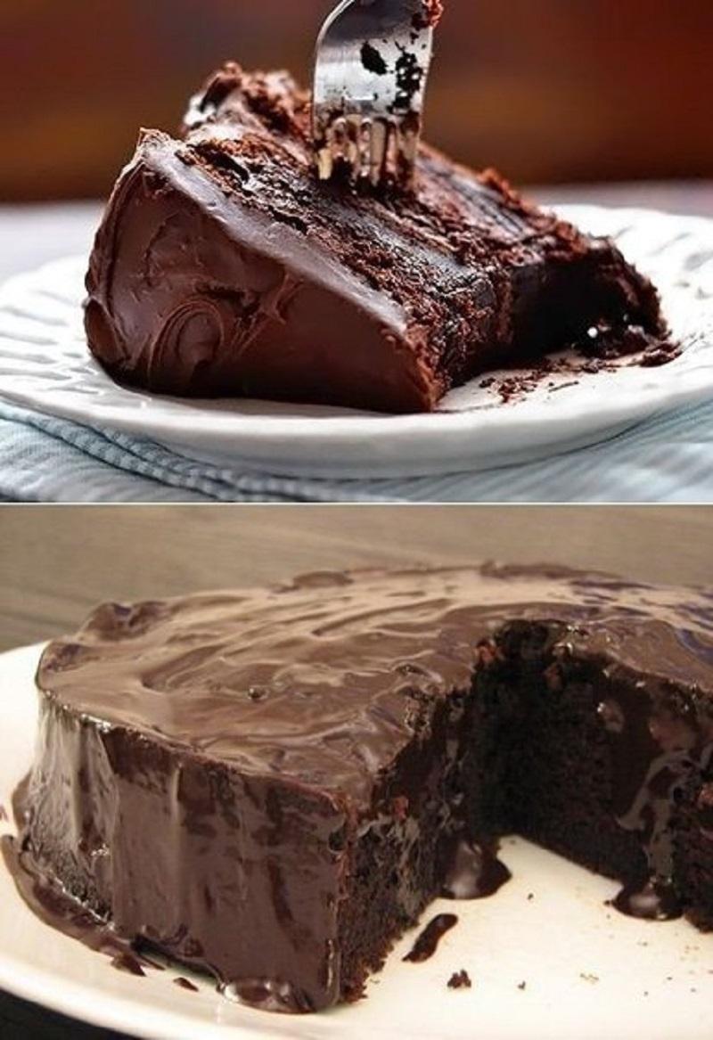 греховно вкусна шоколадова торта