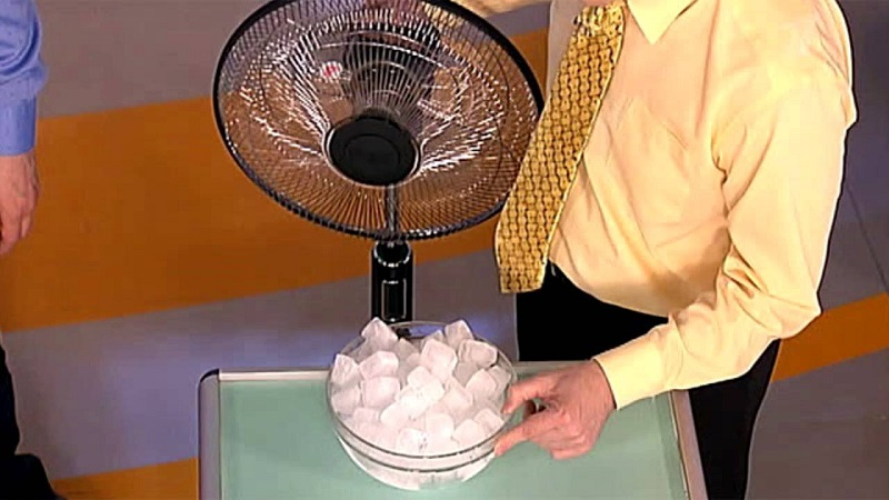 лед пред вентилатора