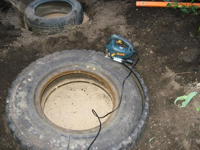 декоративно езерце от гуми