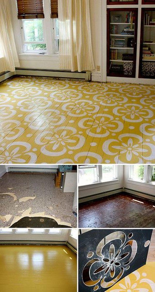 боядисани дървени подове, старинни