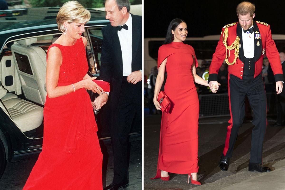 лейди Ди червена рокля