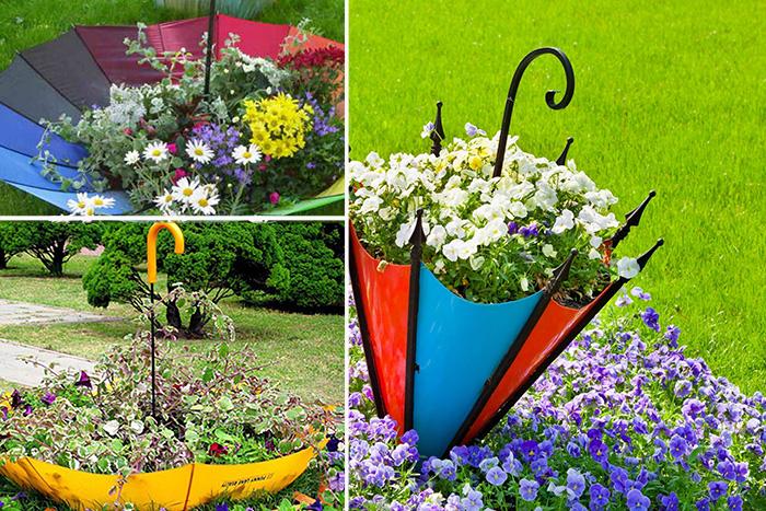 как да декорирате цветна леха