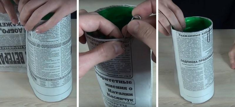 бутилка във вестник
