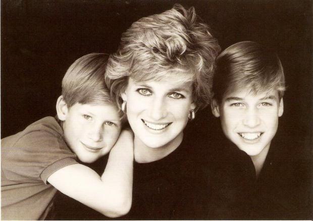 Даяна с Уилям и Хари