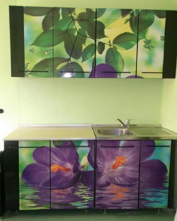 кухненски шкафове с тапети