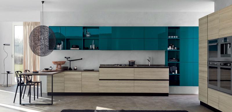 кухня в синьо