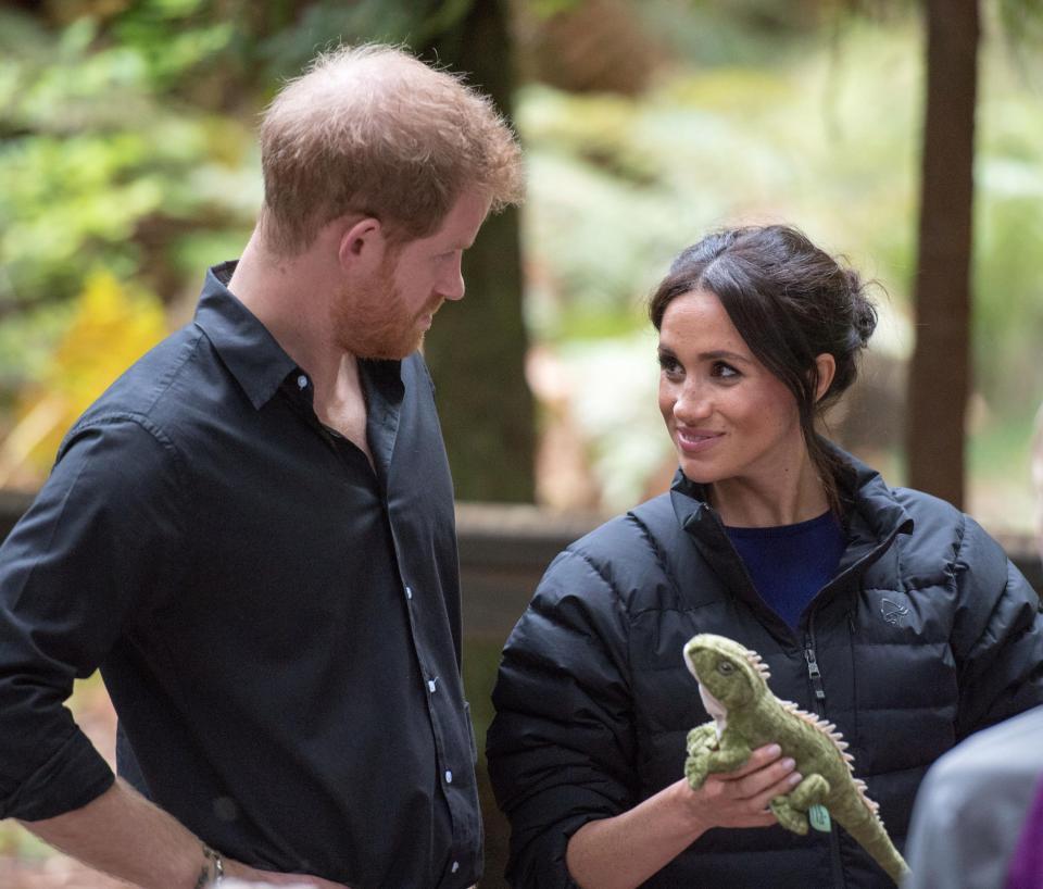Хари и бременната Меган