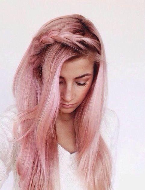 коса с пастелно розово