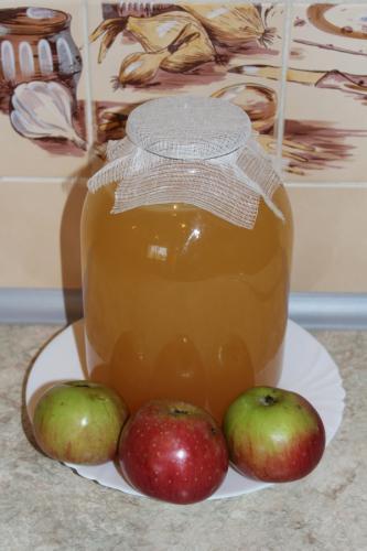 ябълков оцет мътен