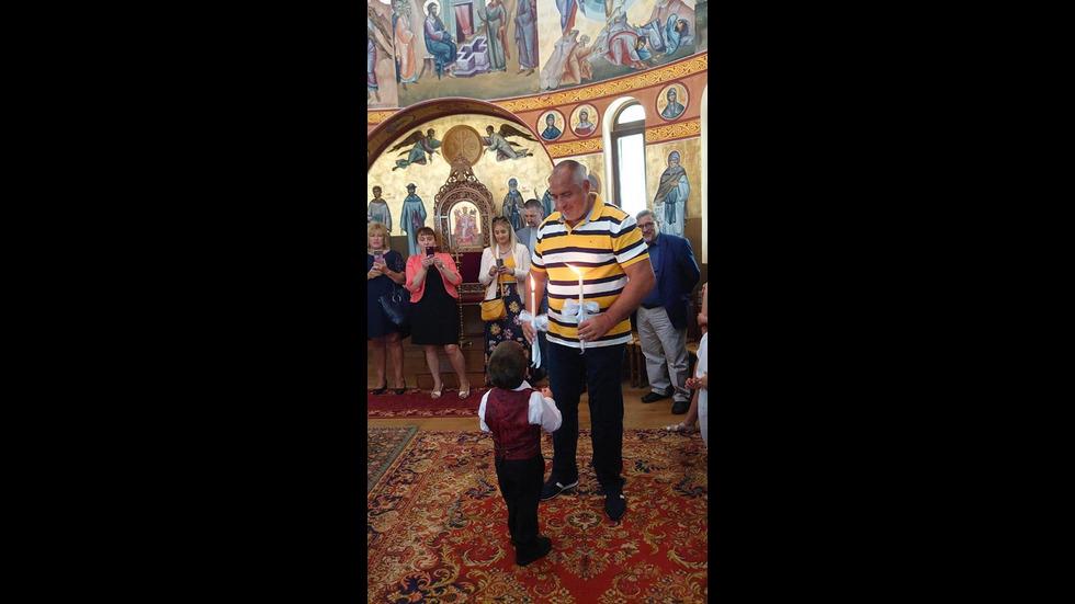 Бойко с внука си