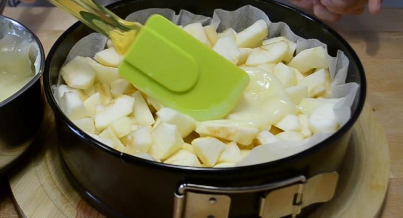 ябълки с домашен крем