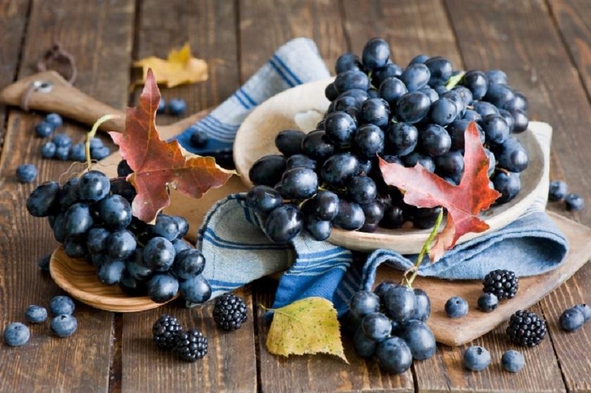 алкални храни грозде