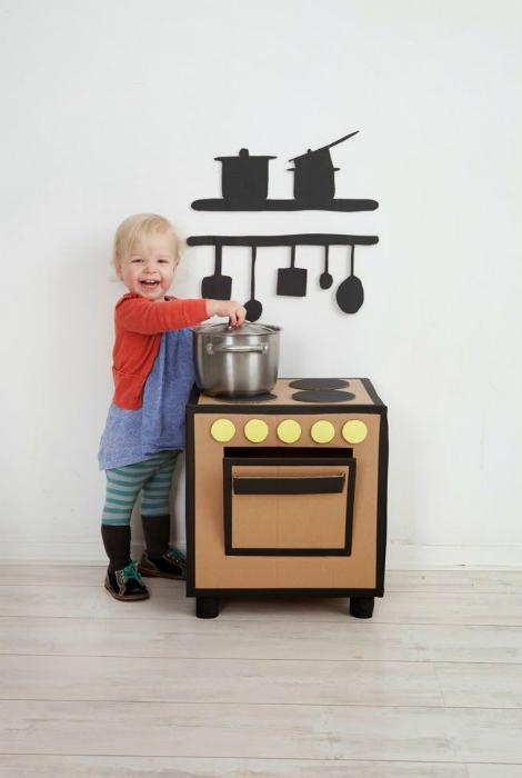 детска печка от кашон