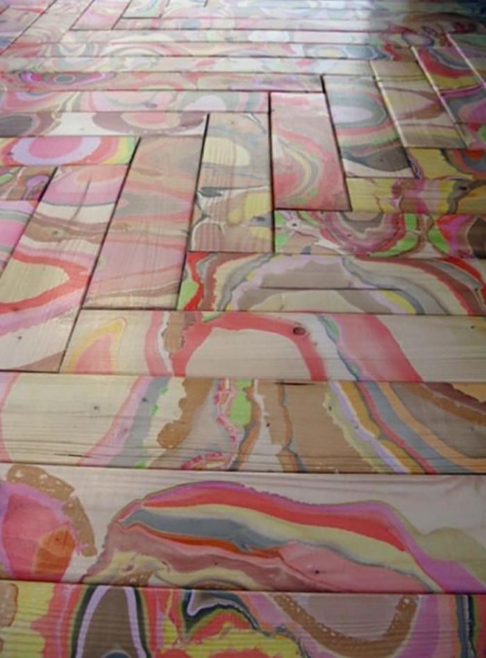 Боядисване на стари дървени подове