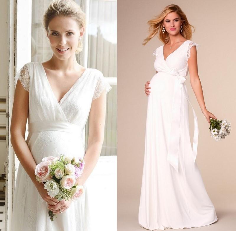 сватбена рокля бременни