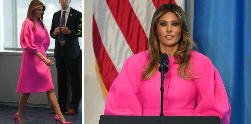 Мелания Тръмп в розово