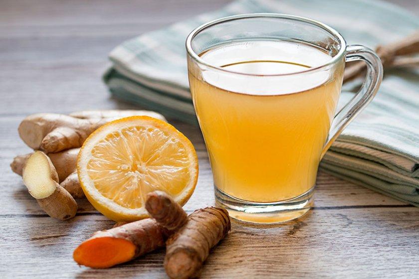 чай с джинджифил и куркума