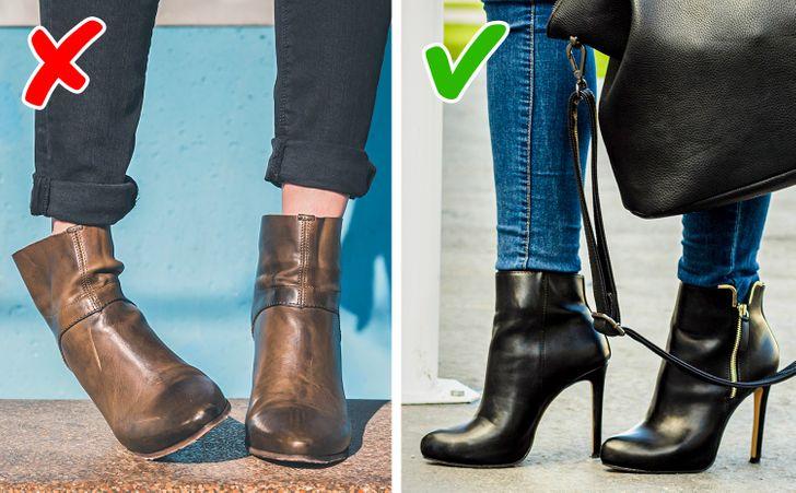съчетание на дънки и обувки