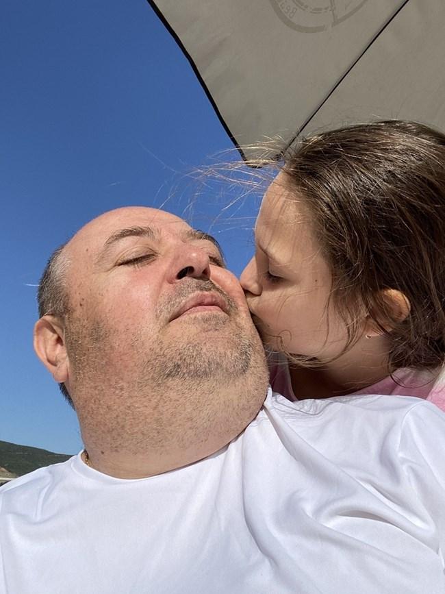 Любо Нейков с дъщеря си