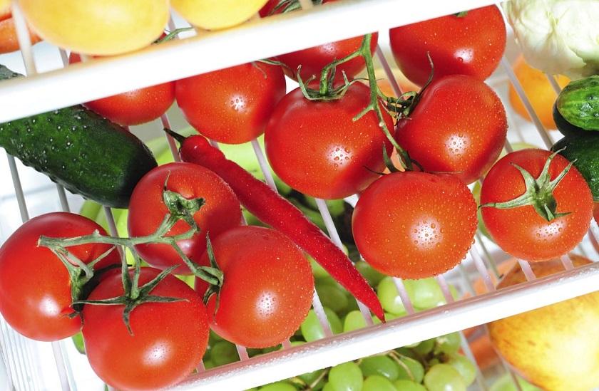 как да се съхраняват домати в хладилника